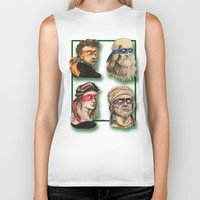 renaissance Biker Tanks featuring Renaissance Mutant Ninja Artists by Rachel M. Loose