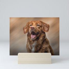 Nova Scotia Duck Tolling Retriever dog Mini Art Print