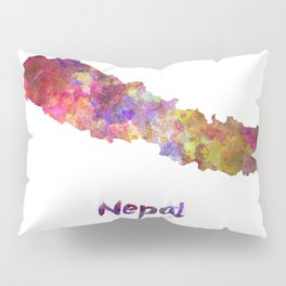 Nepal in watercolor Pillow Sham