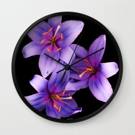 Beautiful Blue Ant Lilies, Flowers Scanography Wall Clock