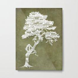 Bohdi Tree - White Metal Print