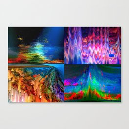 4Glitches Canvas Print