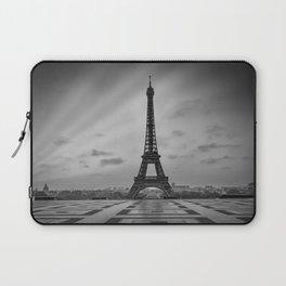 Eiffel Tower at Sunrise   Monochrome Laptop Sleeve