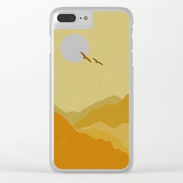 Shades of Desert Clear iPhone Case