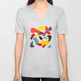 Abstract Shapes #1 Unisex V-Neck