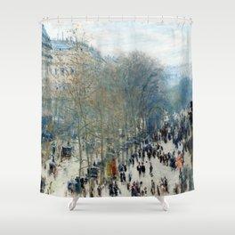 Claude Monet - Boulevard des Capucines (new color editing) Shower Curtain