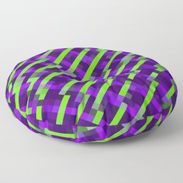 geometric pixel square pattern abstract background in purple green Floor Pillow