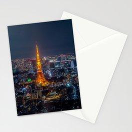 Tokyo, Japan - Night Stationery Cards