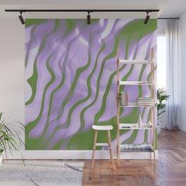 Genderqueer Pride Abstract Wavy Smoke Stripes Pattern Wall Mural