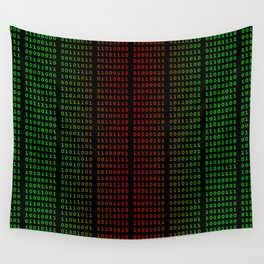 Binary Green and Red With Spaces Wall Tapestry