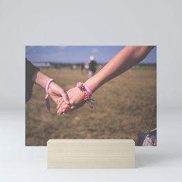 Women Holding Hands Mini Art Print