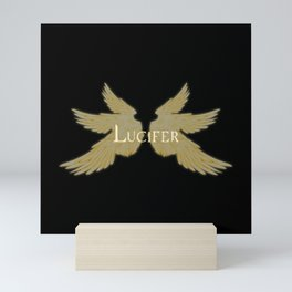 Lucifer with Wings Light Mini Art Print