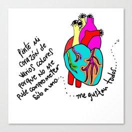 corazón de colores Canvas Print