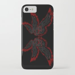 Archangel Lucifer with Wings Black iPhone Case