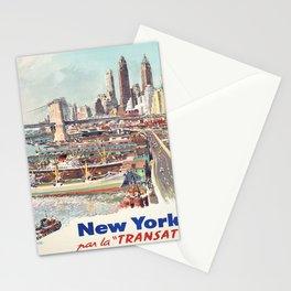 Advertisement new york par la transat compagnie Stationery Cards