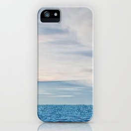 Cloudy sky and ocean iPhone Case