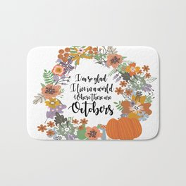 """Anne of Green Gables-L.M Montgomery-""""Octobers"""" design Bath Mat"""