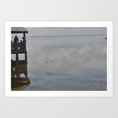 Outerbanks Bay Landscape Scene Art Print