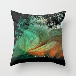 Sunset stormy skies Throw Pillow