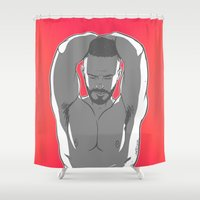 steve rogers Shower Curtains featuring STEVE by artedgar