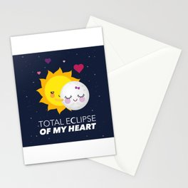 Total eclipse of my heart Stationery Cards