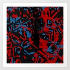 Fragmented Geometry Art Print