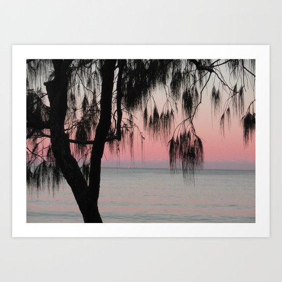The Sunrise Weeping Tree Art Print