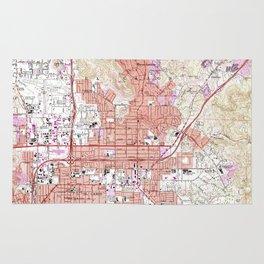 Vintage Map of El Cajon California (1967) Rug