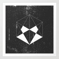 hexagon Art Prints featuring Hexagon by eARTh