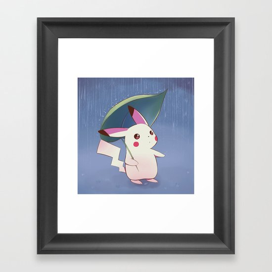 Still raining Framed Art Print