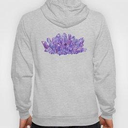 Purple Crystal Cluster Hoody