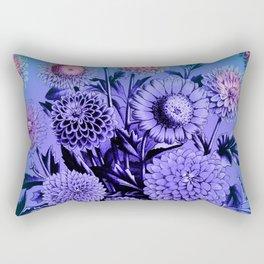 Blue Mums Rectangular Pillow