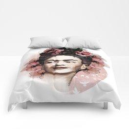 Frida Kahlo illustration Comforters