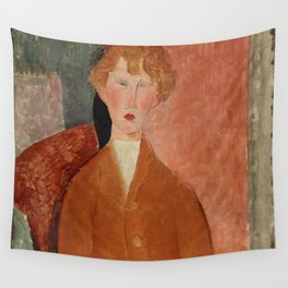 Amedeo Modigliani - Boy in Short Pants Wall Tapestry