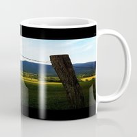 rustic Mugs featuring Rustic by Blue Lightning Creative
