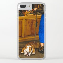 PHOTOGRAPHY - Bored dog Clear iPhone Case