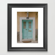 Mint Door Framed Art Print