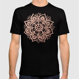 Rose Gold Mandala T-shirt