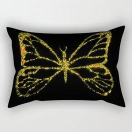 Butterfly Yellow Rectangular Pillow