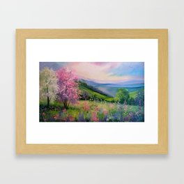 Spring in the Carpathians Framed Art Print