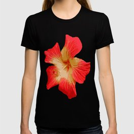 Gorgeous Red And Gold Hawaiian Hibiscus Flower No Text T-shirt