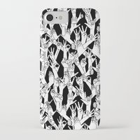 hands iPhone & iPod Cases featuring Hands by shutupbek