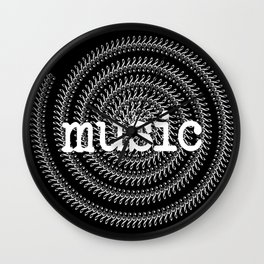Sol keys and music - inverted Wall Clock