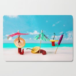 Happy beach hours Cutting Board