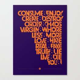 """The """"&"""" Poster Canvas Print"""