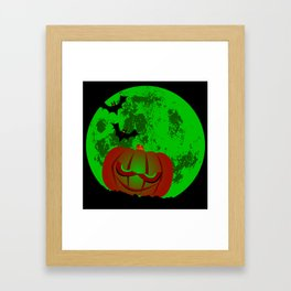 Full Halloween Moon Framed Art Print