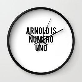 Arnold is numero uno Wall Clock