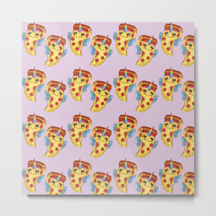 Pizza Unicorn Metal Print