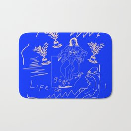 Life goes on Bath Mat