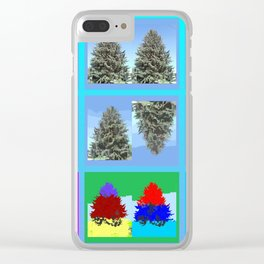 Field of Tree Clear iPhone Case